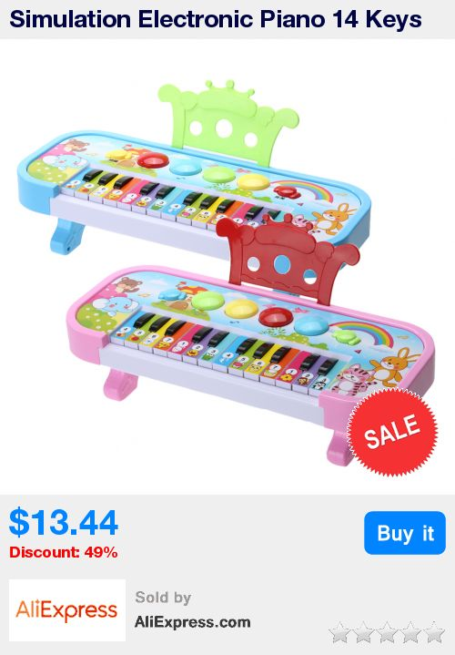 Simulation Electronic Piano 14 Keys ABS Plastic Electronic Piano Keyboard Children Flashing LED Light Musical Toy Gift for Kids * Pub Date: 03:15 Jul 5 2017