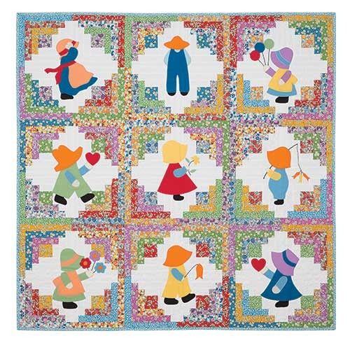 Cute idea for Sun Bonnet Sue and Sam using reproduction 30's fabric