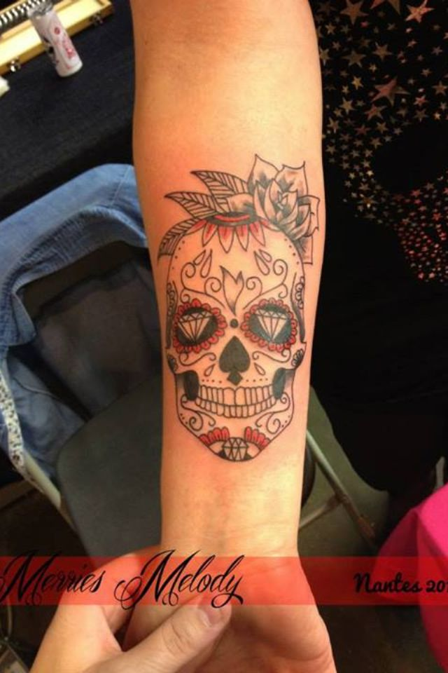 Calavera Skull Mexicaine Merries Melody Tattoo Pinterest