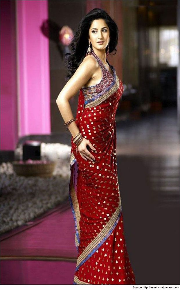 Katrina Kaif in red saree brocade  #KatrinaKaifSaree #RedSaree