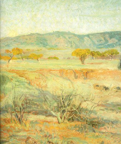 PAISAJE LO CONTADOR,  Óleo sobre tela 173 x 241 cm Colección Particular