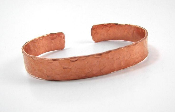 Hammered Copper Cuff, Unisex Copper Bracelet, Arthritis Copper Cuff