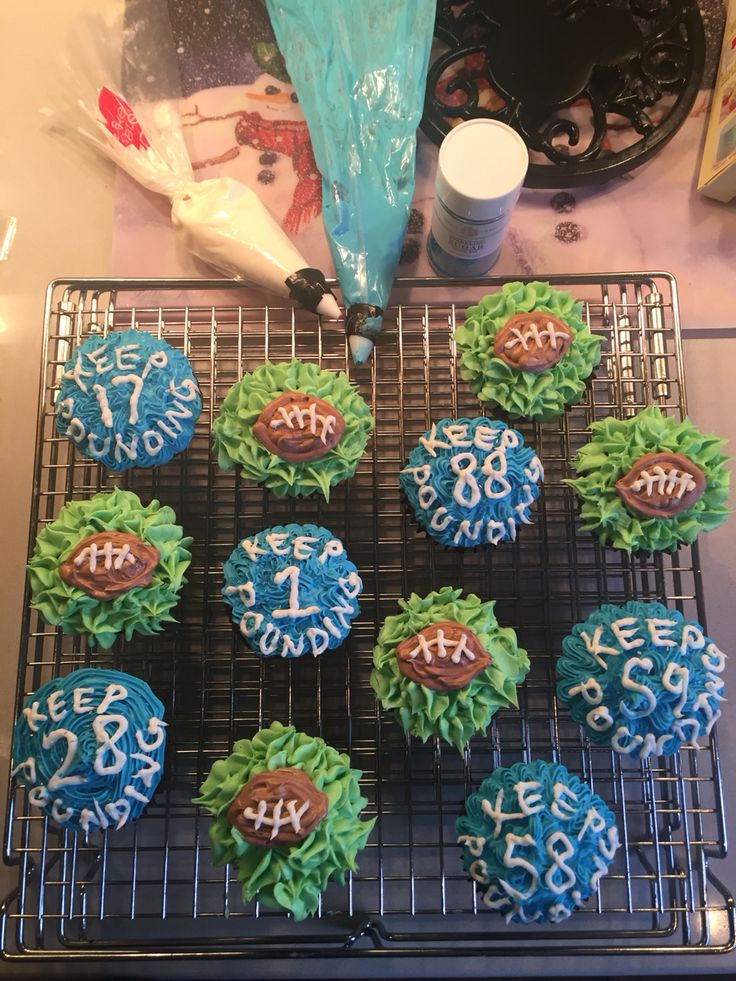Cupcakes for the Panthers game today! Getting into baking these days!