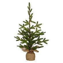 Buy John Lewis Ruskin House Burlap Tabletop Christmas Tree Online at johnlewis.com