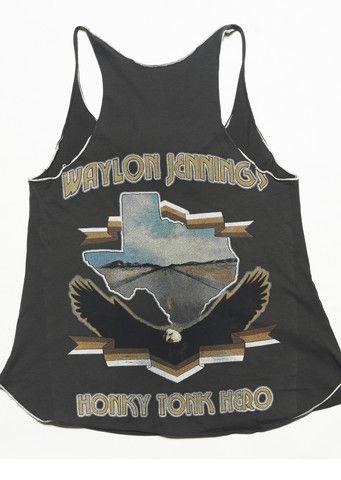 Honky Tonk Hero Racerback Tank – Midnight Rider