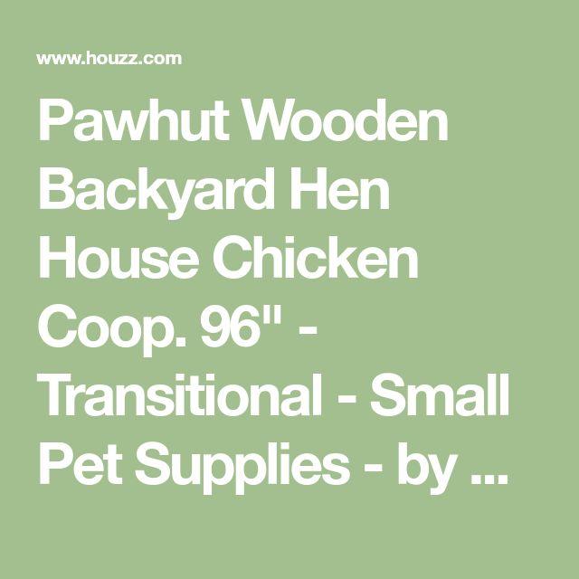 "Pawhut Wooden Backyard Hen House Chicken Coop. 96"" - Transitional - Small Pet Supplies - by Aosom"