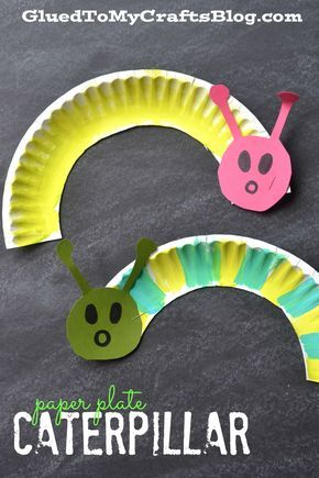 Paper Plate Caterpillar - Kid Craft