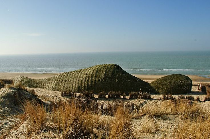 Sea-side Beach Sculpture made from Willow! - Sandworm by Marco Casagrande @ Wenduine, Belgium.jpg
