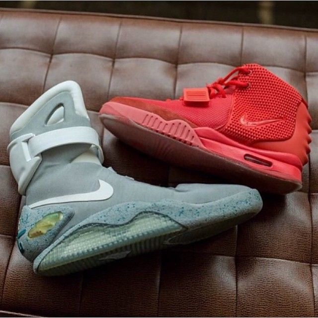 Air Mags or the Yeezy Red October?