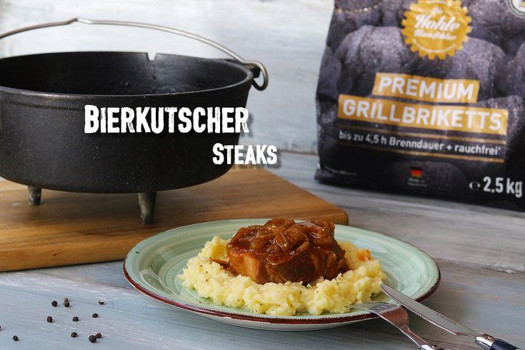 [Werbung mit kostenlos zur Verfügung gestellten Produkten, Beitrag enthält Werbelinks]* Bierkutscher Steaks aus dem Dutch Oven*. Ein deftiges Gericht aus zartem Schweinefleisch, langsam gegart im w…