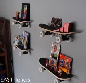 got old skateboards mount  them on the wall