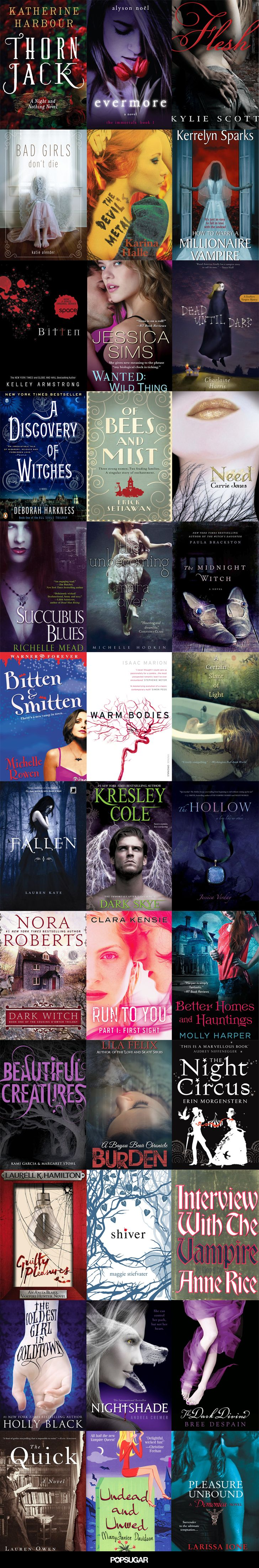 38 Paranormal Romance Books That Are Spookily Sexy...I can attest for Fallen. Great series.