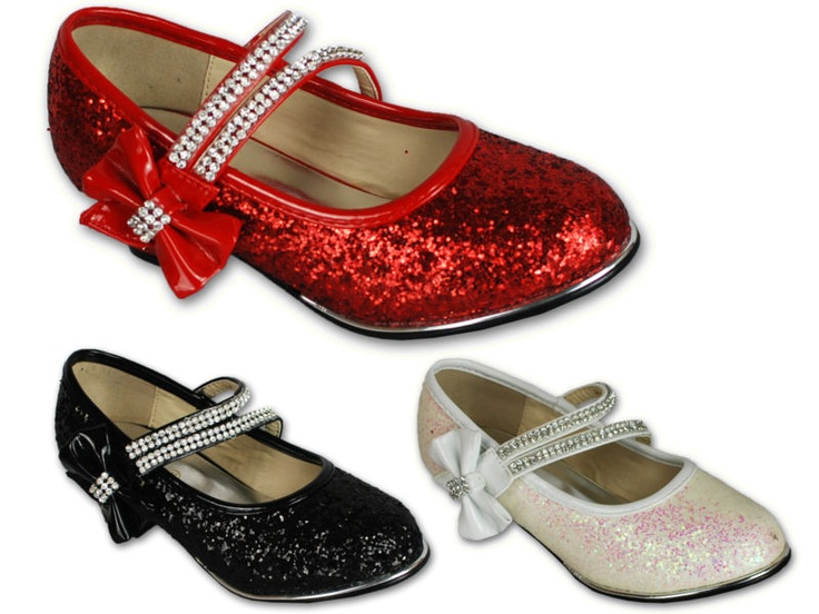 Girls Shoes Glitter Velcro Wedge Party Diamante Flower Toddlers Wedge Heel | eBay