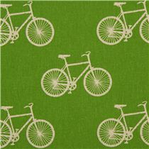 grüner echino Fahrrad Popeline Stoff cycling