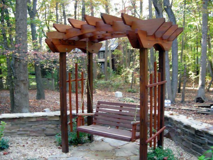 101 best garden images on pinterest brick pathway for Love making swing