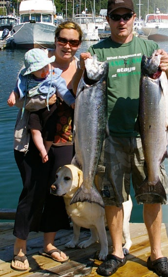 Salmon and Halibut Fishing Charters on Vancouver Island, British Columbia with Tailspin Charters