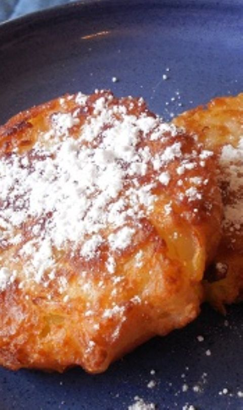 PINEAPPLE FRITTERS~~This recipe for Pineapple Fritters is quick and children and adults will love them.  Make these fritters for breakfast with coffee or as a snack with milk anytime.  Can be reheated in the microwave and keeps several days in the fridge.