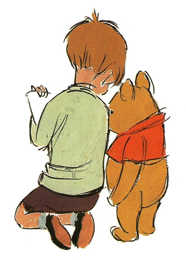 Very pretty Christopher Robin and Pooh piece