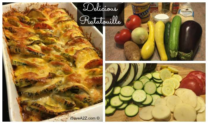 This delicious Ratatouille recipe is one of my families favorite recipes ever. This is one of those one pot meals that is crazy easy to make too. YUMMY!