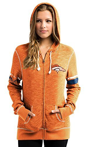 Denver Broncos Women's Athletic Tradition Zip-Up Hooded S…