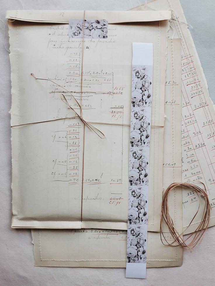 Linen Garden gift bags French Hand