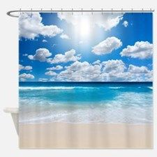 Sunny Beach Shower Curtain for