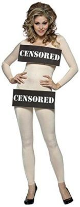 Censored Bar Womens Adult Nude Bodysuit Sexy Costume  Censored Girlss Grownup Gown comprises One piece Grownup Nude Bodysuit with CENSORED around the bust and pelvic house.One Measurement Suits Such a lot Get dressed Sizes four-eight. Subject:Bachelor Birthday celebration Colour:Flesh Measurement:One Measurement: Common Taste:Whole Gown Please word:If non product issues the buyer wish to pay for the go back transport charge and 20% repair charge. And please go back product inside 14 days…
