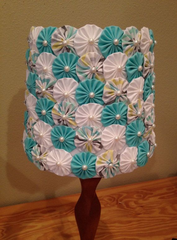 Lampshade Fabric Yoyo's - Nursery- Girls Room