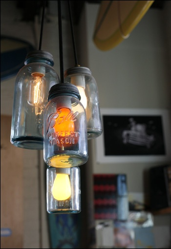 mason jar lights-love different bulbs