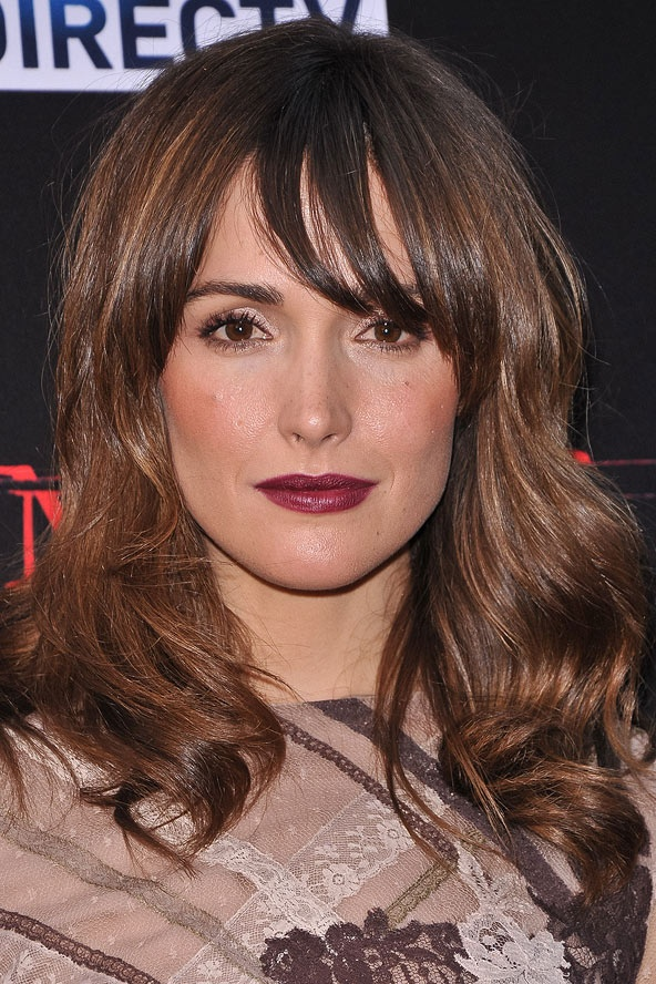 rose byrne�s sideswept fringe wavy hair colors and the