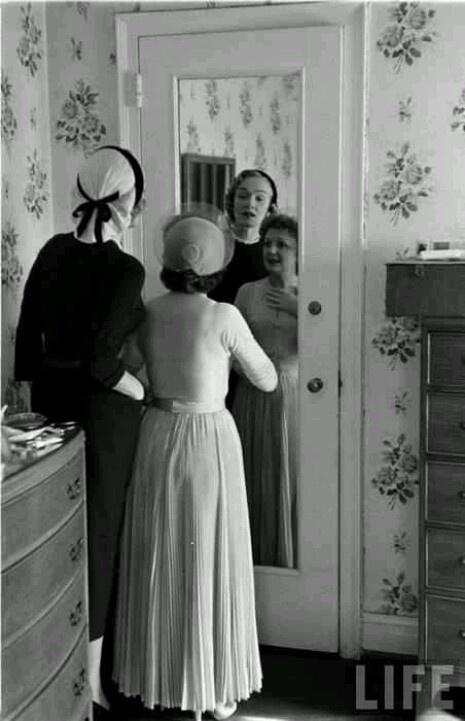 Marlene Dietrich w/ Edith Piaf on her wedding day
