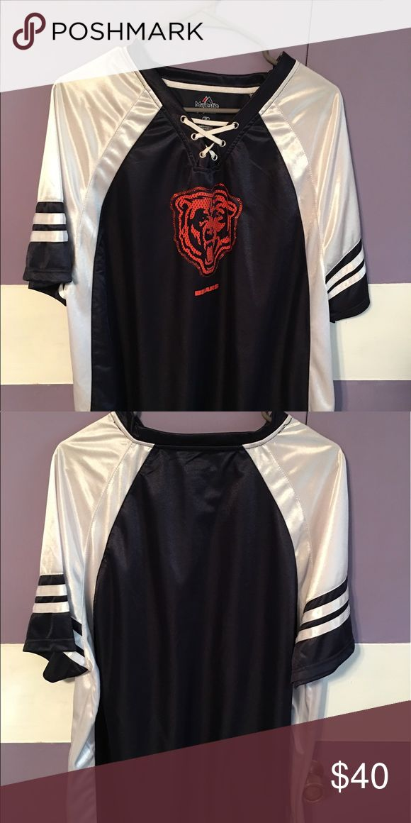 Women's Chicago Bears Shirt Size 2XL; worn once, no trades. No tags. 100% Authentic. Tops Tees - Short Sleeve