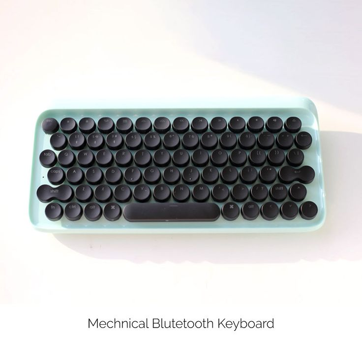 Mechanical wireless keyboard that brings back the feeling of real typing.