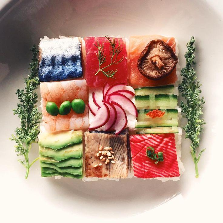 (@avocadossushi) op Instagram: 'Mosaic sushi '