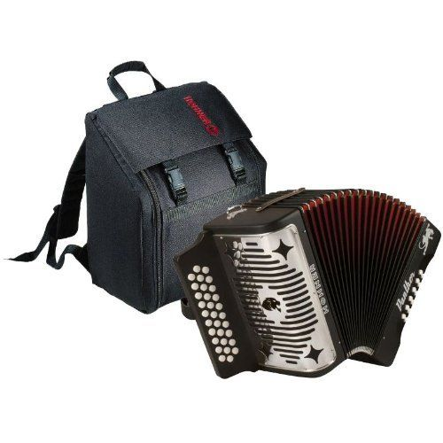 Hohner A-4800 Panther G/C/F 3-Row Diatonic Accordion Bundle with Padded Gig Bag- Black by Hohner. $399.99. Bundle includes Hohner A-4800 Panther G/C/F 3-Row Diatonic Accordion and Padded Gig Bag. The Panther is ideal for the beginning student. The Hohner Panther GCF Diatonic Accordion shares many of the quality features of our more expensive diatonics with a lower price tag. The Panther Accordion features double-strap brackets, 31 treble keys, 12 bass/chord buttons and 2 sets o...