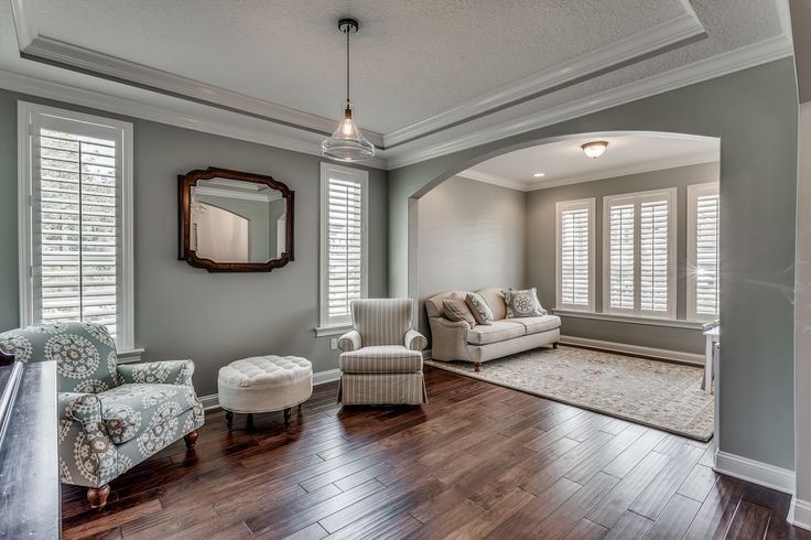 Front sitting room sherwin williams comfort gray paint - Gray paint living room ...