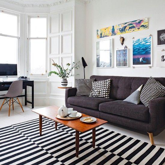 Grey and white living room | housetohome.co.uk | Mobile