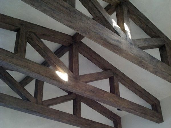 1000 images about ceiling trusses and arched beams on for Faux wood trusses
