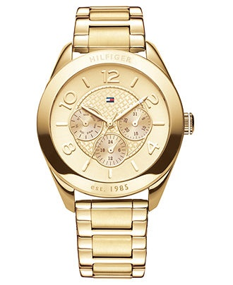 Tommy Hilfiger Watch, Women's Gold Plated Stainless Steel Bracelet 40mm at Macy's.