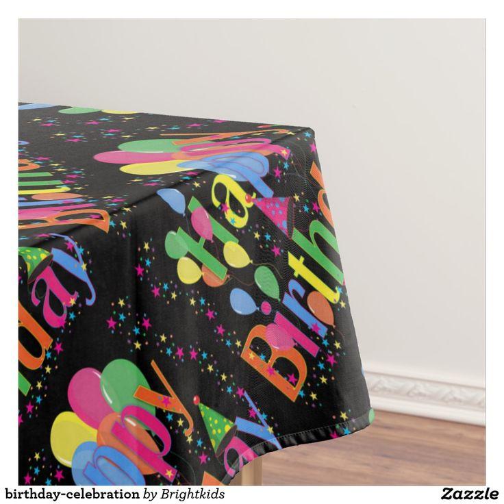 birthday-celebration tablecloth