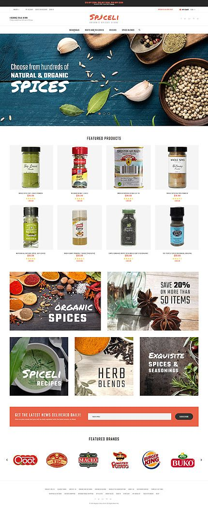 Organic Spices Online Store #Magento #template. #themes #business #responsive…