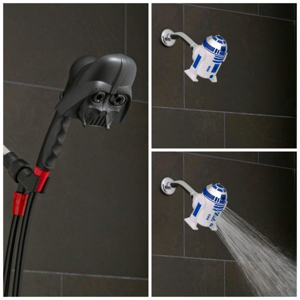 Darth Vader And R2-D2 Showerheads