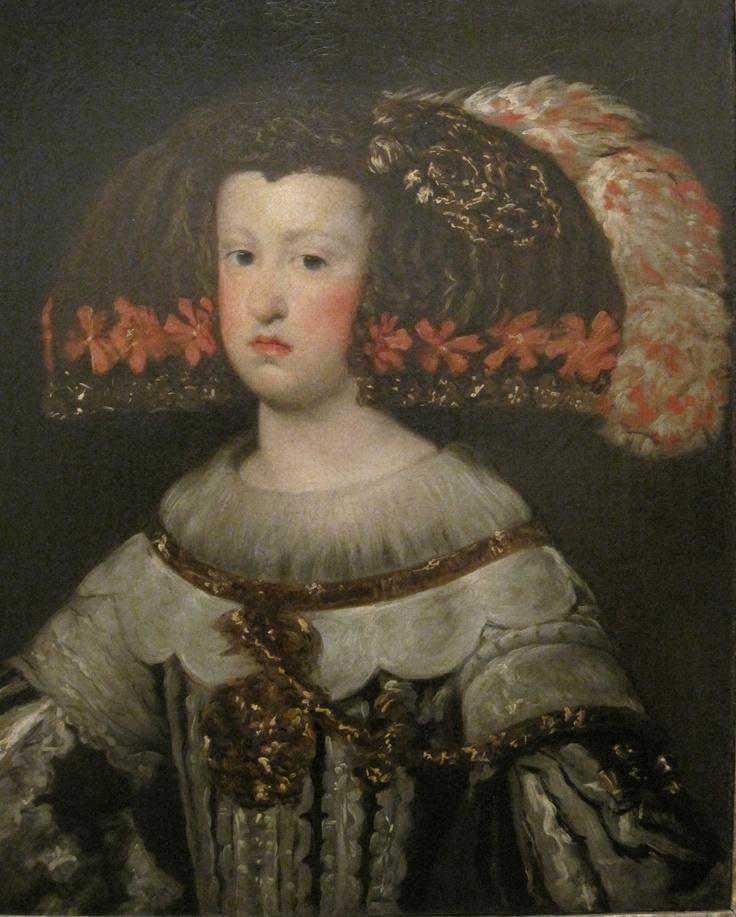Mariana de Áustria, Juan Bautista Martinez de Mazo,1650, museu de Arte Antiga de Lisboa