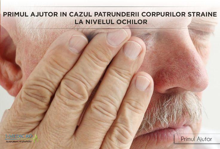 In mod normal indepartarea corpurilor straine de la nivelul ochilor ar trebui sa poata fi facuta in bune conditii acasa. Cu toate acestea daca intampinati probleme sau daca obiectul strain este ascutit sau de dimensiuni mai mari este important sa va adresati imediat personalului de specialitate (numarul de urgenta este 112). http://www.i-medic.ro/primul-ajutor/primul-ajutor-cazul-patrunderii-corpurilor-straine-la-nivelul-ochilor