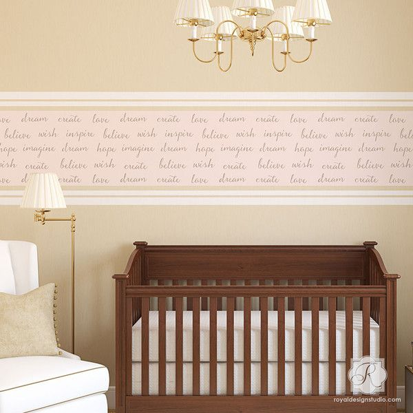 Dream On Lettering Wall Stencil