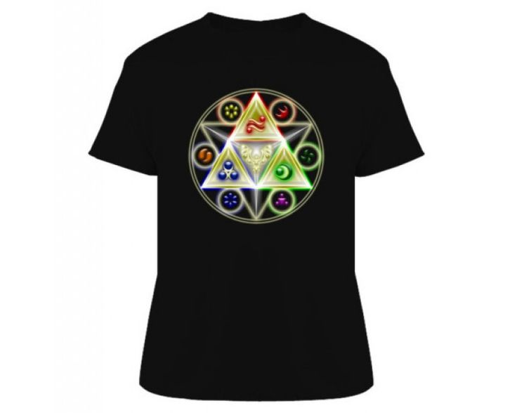 Zelda Detailed Triforce Video Game Tshirt-541