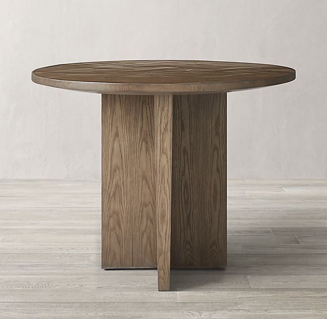 Wyeth Split Bamboo Floating Round Entry Table In 2020 Round