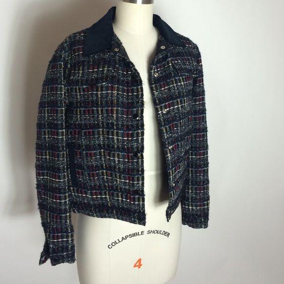 Maison Kitsune women's tweed jacket, sz 36 Adorable Maison Kitsune tweed jacket perfect thrown over a black dress! Never been worn, new with tags. Size 36 / Small Maison Kitsune Jackets & Coats