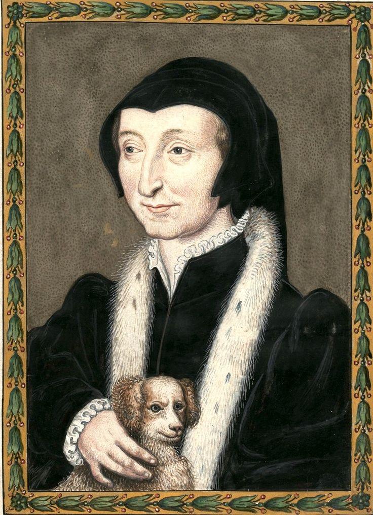 Marguerite de Valois-Angoulême, reine de Navarre, †1549. Dessin d'un portrait original (Gaignières 956). -- «Marguerite de France [d'Angoulême] R de Navarre (morte en 1549)«.