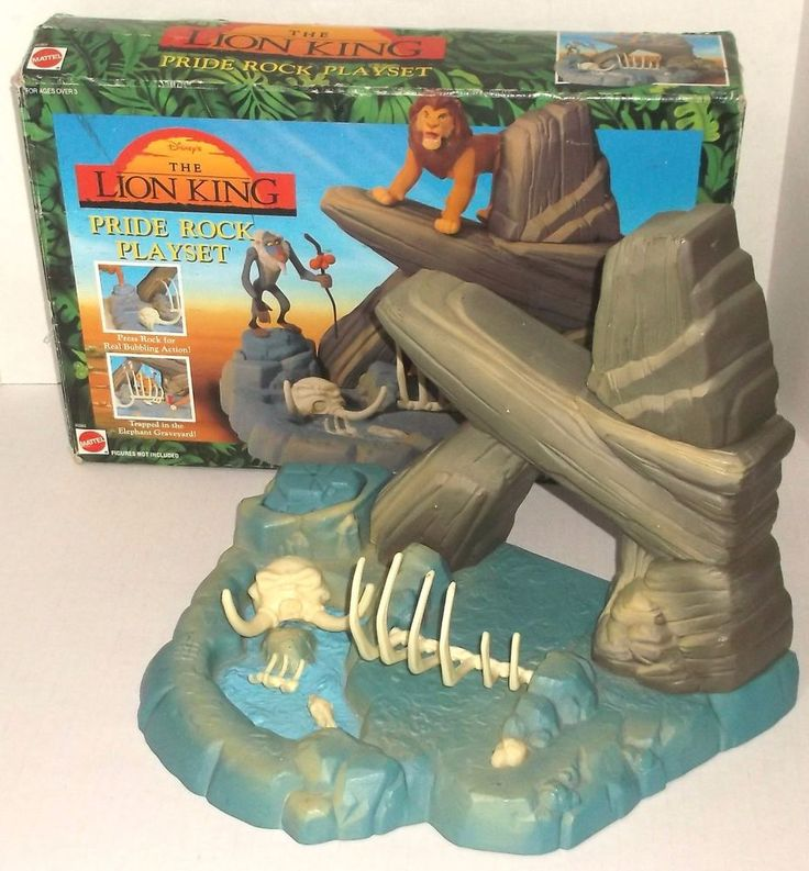 THE LION KING PRIDE ROCK PLAYSET 1994 MATTEL MINT IN BOX mib COMPLETE DISNEY #Mattel